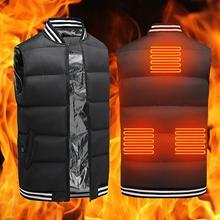 Heated Vest Electric Winter Jacket Heated Vest 3 Gears Waterproof Waistcoat USB Energy-saving Heating Jacket Men Winter Clothes
