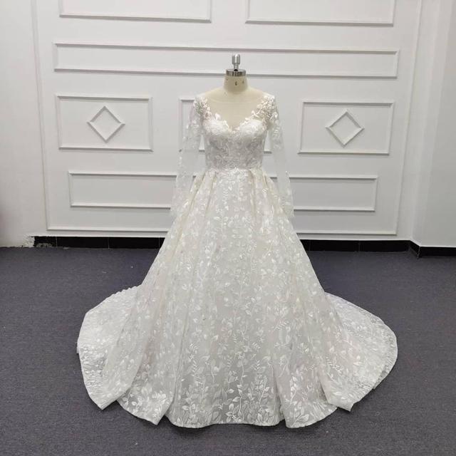 תפור לפי מידה כדור שמלת חתונת שמלת 2020