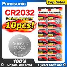 Lot de 10 piles bouton 3v pour PANASONIC cr2032, neuves et originales, pour montre et ordinateur cr 2032