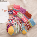 1 пара, повседневные женские Мягкие толстые теплые носки из шерсти кролика, теплые носки для зимы, цветные дышащие женские носки в ретро стил...