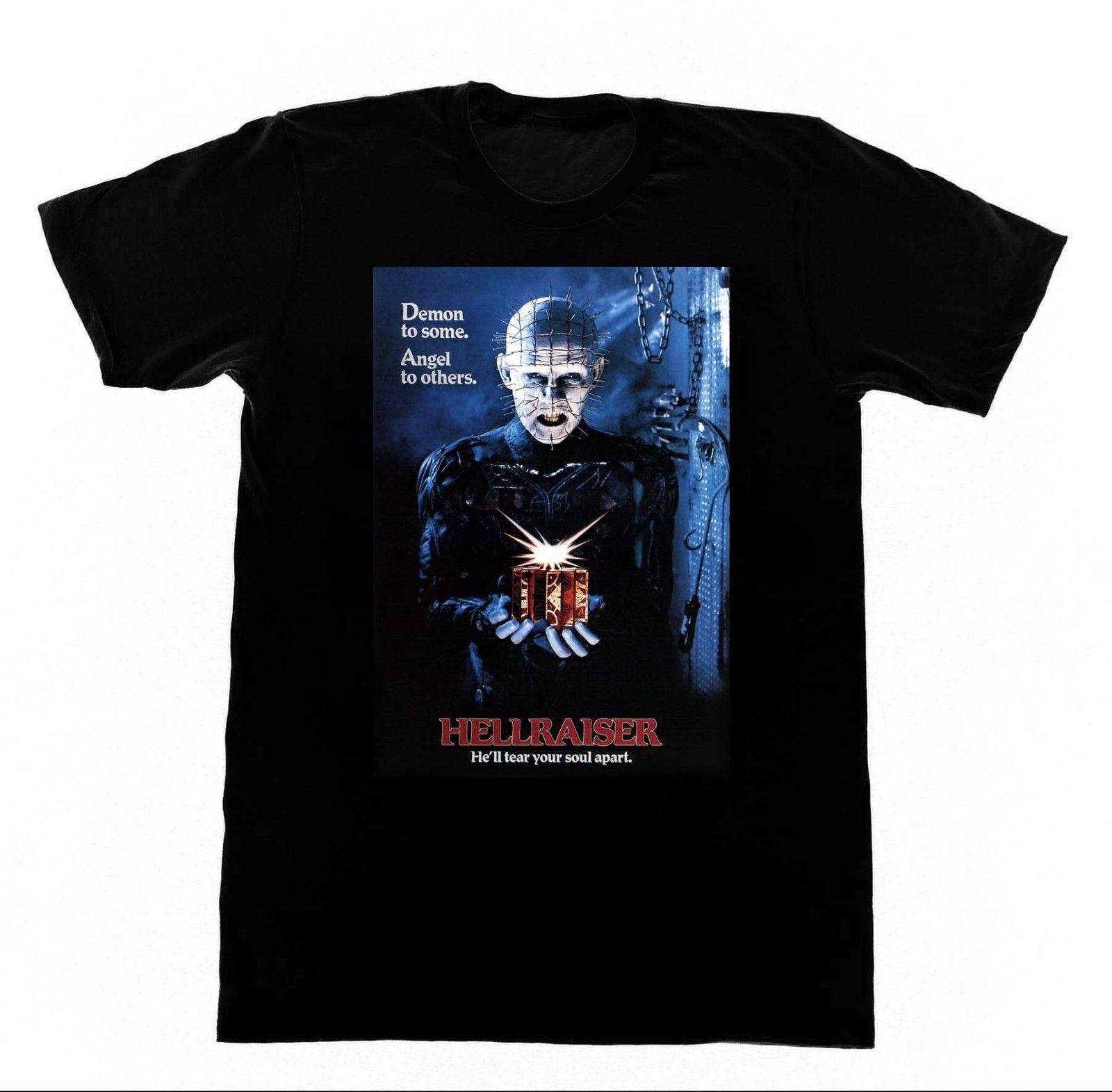 Hellraiser Shirt 172 T Pinhead Clive Barker 80s Cult Horror Movie Film High Quality Men T-Shirts Tops O-Neck Shirts
