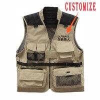 Plegie 2019 SpringAutumn Mens Couple vest Coat Sleeveless Jacket Casual Men Harajuku Multi pockets Tactical Vest Coat Customized