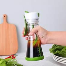 Salada molho shaker copo único gadget molhos misturador multifuncional universal manual salada suco garrafa copo de mistura