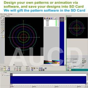 Image 3 - SD 카드 DMX RGB 컬러 Editable ILD 애니메이션 음악 레이저 프로젝터 스트로브 조명 디스코 파티 DJ 클럽 무대 컬러 음악 조명