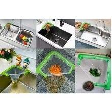 Kitchen Sink Filter Leftovers  Hanging Net Drain Basket Corner  Garbage Storage D7WA