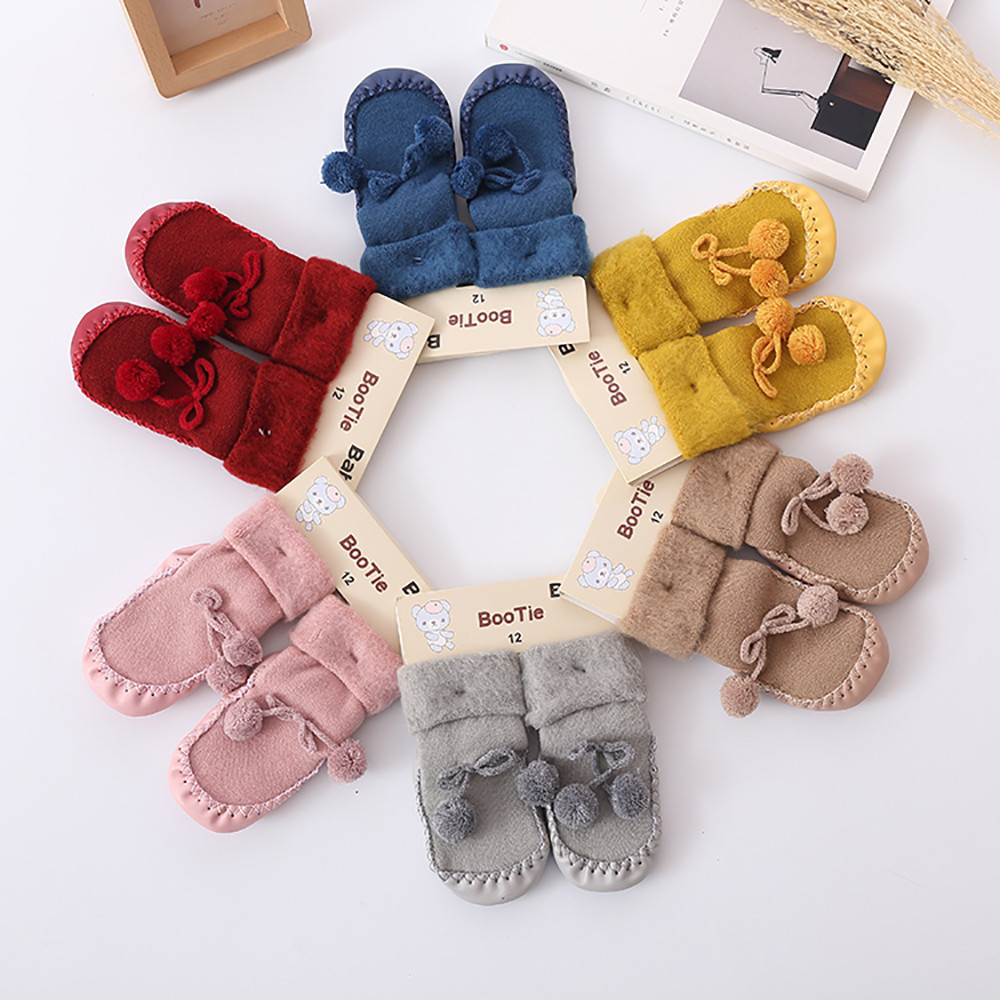 Newborn Baby Boys Girls Toodler Winter Socks Infant Socks Baby Floor Anti-slip Cotton Thick Warm Soft Socks For 0-24 Monthes