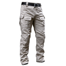 Archon Outdoor Tactical Pants Men #8217 s New Winter Waterproof Multi-pocket Cargo Pants Combat SWAT Army Camouflage Work Trousers tanie tanio CN(Origin) Flat Polyester Cotton Pockets Loose 2 5 - 3 2 SOQ PANTS 066 Safari Style Heavyweight Broadcloth Full Length Zipper Fly