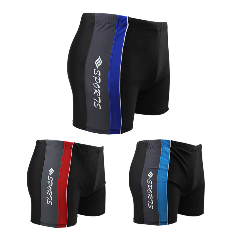 Sports Quick-Dry Shorts Men Bubble Hot Spring Boxer Swimming Trunks-Style Mixed Colors Stripes Swimming Trunks Breathable Thin S