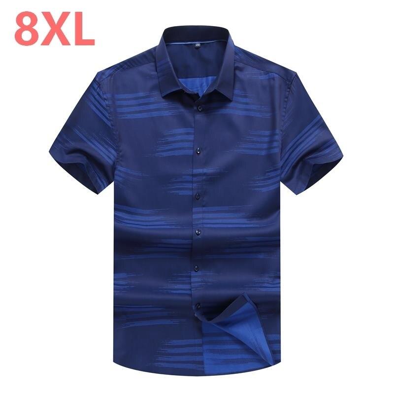 Plus Size 10XL 8XL 6XL 5XL Mens Hawaiian Shirt Male Casual Camisa Masculina Printed Beach Shirts Short Sleeve Brand Clothing