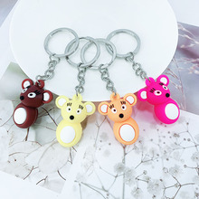 New creative PVC mouse keychain hanging ornaments girls bag car key pendant factory direct sales