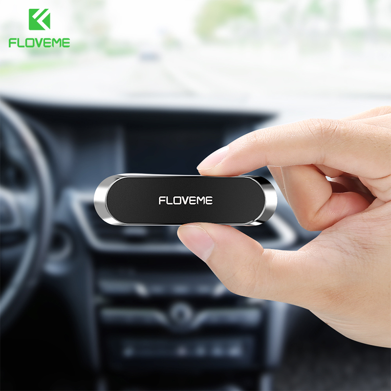 FLOVEME Universal Mini Strip Magnetic Car Phone Holder For IPhone 11 Pro Max 11 7 8 XR X Magnet GPS Car Holder Mount Dashboard