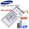 Оригинальный аккумулятор Samsung для Samsung Galaxy A8 2018 (A530) A530 SM-A530F 3000 мАч EB-BA530ABE сменные батареи для телефона