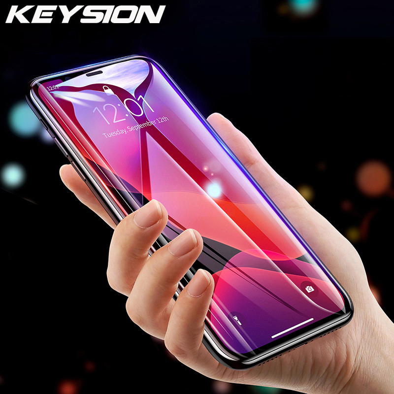 KEYSION Tempered Glass For IPhone 11 11 Pro 11 Pro Max Screen Protector Phone HD Clear Full Cover Glass For IPhone 11 Pro Max