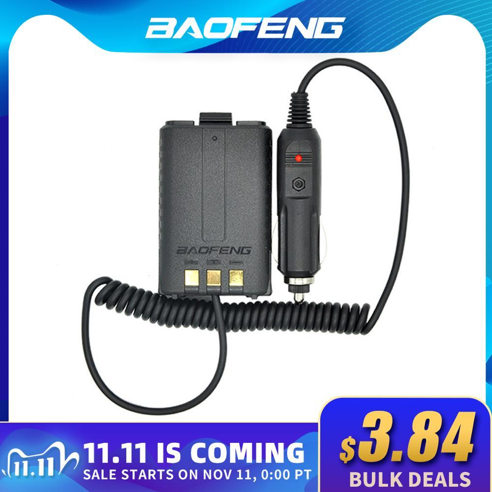 Baofeng Battery Eliminator Car Charger for Portable Radio UV-5R UV-5RE UV-5RA Two Way Radio 12-24V W