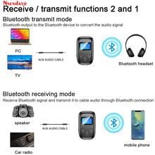 2 in 1 Bluetooth 5.0 adaptörü LED ekran kablosuz ses Bluetooth verici alıcı PC TV için araba 3.5mm AUX müzik adaptador