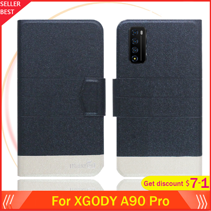 5 Colors Hot!! XGODY A90 Pro Case 6.6 Flip Ultra-thin Leather Exclusive Phone Cover Fashion Folio Book Card Slots image