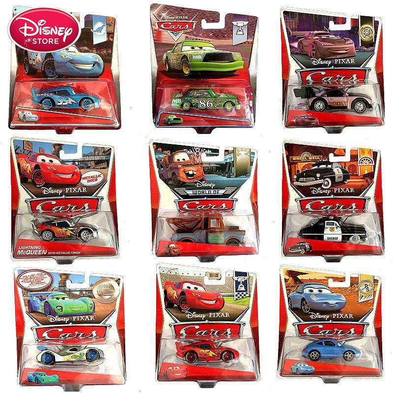 Com caixa original disney pixar carro 3 relâmpago mcqueen mater jackson tempestade ramirez diecast veículo liga de metal menino brinquedos criança presente
