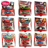 Z oryginalnym pudełkiem Disney zabawka pixar 3 zygzak mcqueen Mater Jackson Storm Ramirez Diecast pojazdu stopu metalu chłopiec zabawki dla dzieci prezent