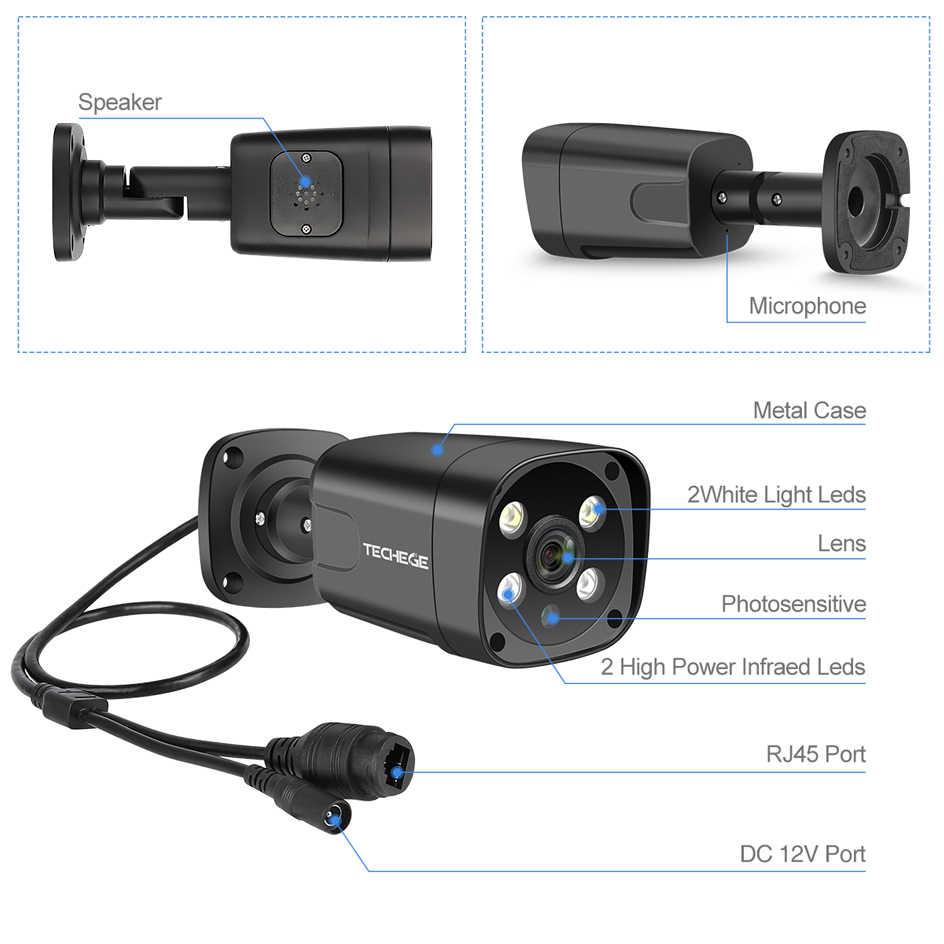 تيشيج 5MP H.265 16CH POE طقم NVR CCTV AI نظام الكاميرا الأمن عدة في الهواء الطلق كاميرا IP مقاومة للمياه طقم كاميرات المراقبة بالفيديو