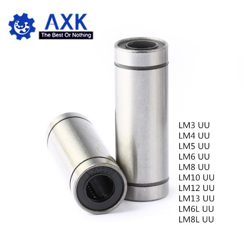 2pcs/lot LM6UU LM8UU LM10UU LM8LUU LM6LUU LM12UU LM3UU LM4UU LM5UU Long Type 8mm Linear Ball Bearing CNC Parts For 3D Printer