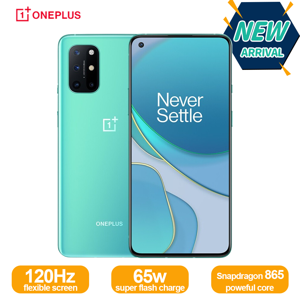 New Oneplus 8T 8 T 5G Global Rom SmartPhone 120Hz Fluid AMOLED Display Snapdragon 865 65W Warp Charge One plus 8T Mobile Phone