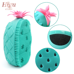Image 2 - Hot Sale Facial Cleaning Brush Exfoliator Massage Pore Deep Cleansing Pineapple Shape Silicone Face Wash Brushes Beauty Tool