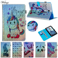 Wekays For Samsung Tab A6 10.1 T580 Cartoon Glitter Leather Case For Samsung Galaxy Tab A 6 2016 10.1 SM-T585 SM-T580 Cover Case цена и фото