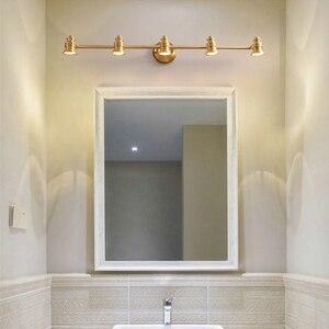 Image 4 - Maquiagem Profissional Completa Bathroom Mirror Front Lamp Full Copper Bedroom Dresser Lighting Modern Minimalist LED Wall Light