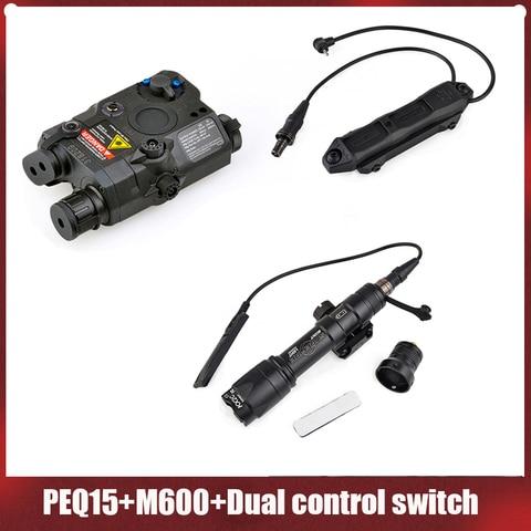 elemento surefir m600c scoutlight led luz peq15 e aumento de pressao interruptor bloco acessorio kit