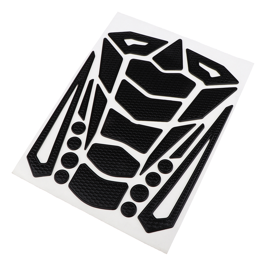 Universal Motorbike Side Gas Knee Grip Protective Non-slip Rubber Decals Sticker Motorcycle Fuel Tank Pads