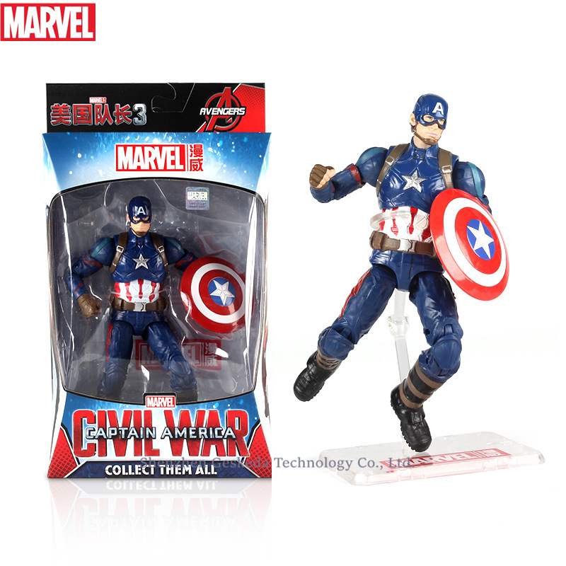Hasbro Marvel Toys The Avenger Endgame 17CM Super Hero War Machine Thanos Wolverine Spider Man Iron Man Action Figure Toy Dolls in Action Toy Figures from Toys Hobbies