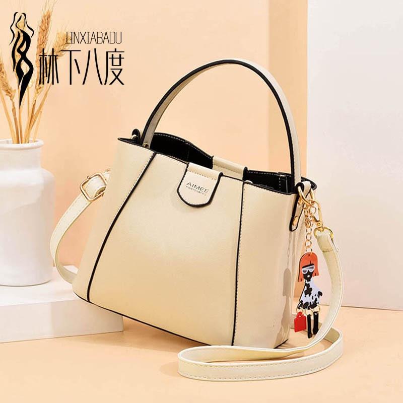 Spring New Bucket Bag Fashion Shoulder Bag Messenger Bag Simple Middle-aged Women's Bag