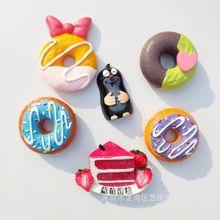 Magnetic Sticker Refrigerator Donuts Czech Food Strawberry Decoration Kitchen-Accessories