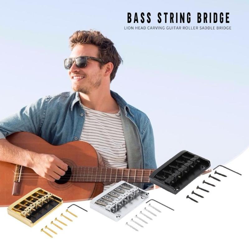 <font><b>5</b></font> <font><b>Strings</b></font> <font><b>Bass</b></font> <font><b>Bridge</b></font> Electric Guitar Replacement Wide Scope of Application Work Exquisite Durable Musical Instrument Parts image