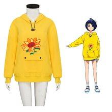 Толстовка с капюшоном Ohto Ai в стиле аниме чудо-яйцо, Желтый Свободный пуловер в стиле унисекс, свитшот с искусственным интеллектом, костюмы д...