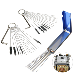 3PCS Carburetor Dirt Clean Tool Cleaner Kit + 20 Needle +13 Wires +10 Brush Carb For Carburetor For Nozzles Air Tools Cleaning(China)