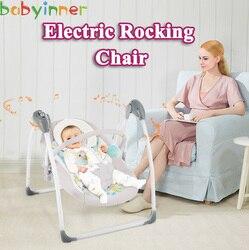 Babyinner Baby Wiege Kind Elektrische Schaukel Stuhl Faltbare Baby Liege Multifunktions Neugeborenes Schaukel Baby Stubenwagen 0-3 Jahre