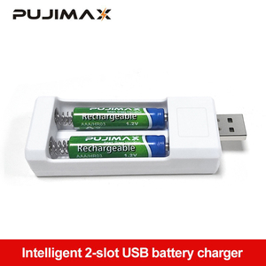 PUJIMAX USB Output 2 Slots Fast Charging Universal Rechargeable Battery AA/AAA Accu Charging Tool Adapter Batteries Charger
