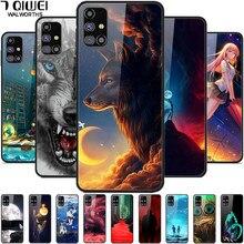 Für Samsung M31s M51 Fall Gehärtetes Glas Wolf Hard Telefon Abdeckung für Samsung Galaxy M51 Fall Luxus Fundas M 31S Coque M 51 Abdeckungen