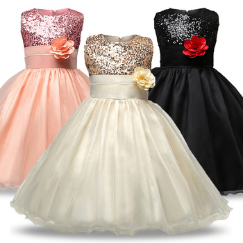 Flower Girl Dress Wedding Birthday Party Princess Christmas Dresses For Girls Children's Costume New Year kids clothes 3-8Year цена 2017