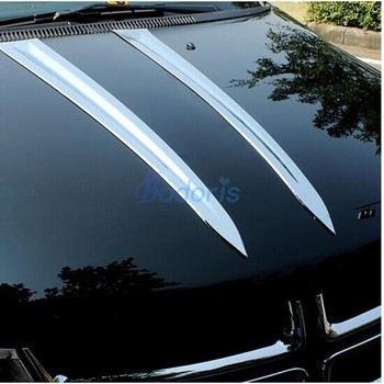 For Dodge Journey JUCV Fiat Freemont 2011-2018 Car Hood Trim Garnish Panel Chrome Car Styling Accessories