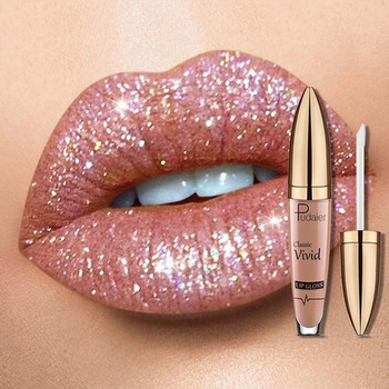 18 Colors Diamond Shimmer Glitter Lipg Loss Matte To Glitter Liquid Lipstick Waterproof Diamond Pearl Colour Lip Gloss Make Up