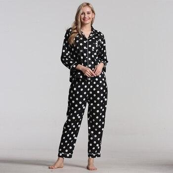 Pajamas Set Pajamas For Women Spring Autumn New Cartoon Printed Long Sleeve Female Pyjamas Suit Cute Sleepwear Casual фото