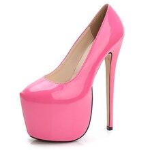Туфли женские на очень высоком каблуке, пикантная Свадебная обувь, туфли-лодочки, платформа, круглый носок, карамельные цвета, шпильки, 1 пар...