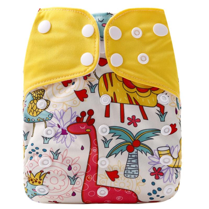 [Simfamily] 1 шт. многоразовые тканевые подгузники, регулируемые детские подгузники, моющиеся подгузники, подходят для 3-15 кг детские подгузники - Цвет: NO31