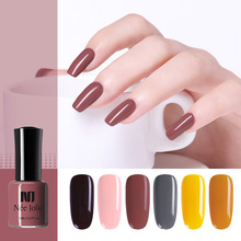 NEE JOLIE 8ml Solid Color Nail Polish Colorful Green Red Gray Long Lasting Art Varnish DIY Design Tools