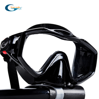 Silicone Tempered Glass Professional Scuba Swimming Diving Mask Set Diving Mask + Dry Black Snorkel For Underwater Hunting цена 2017