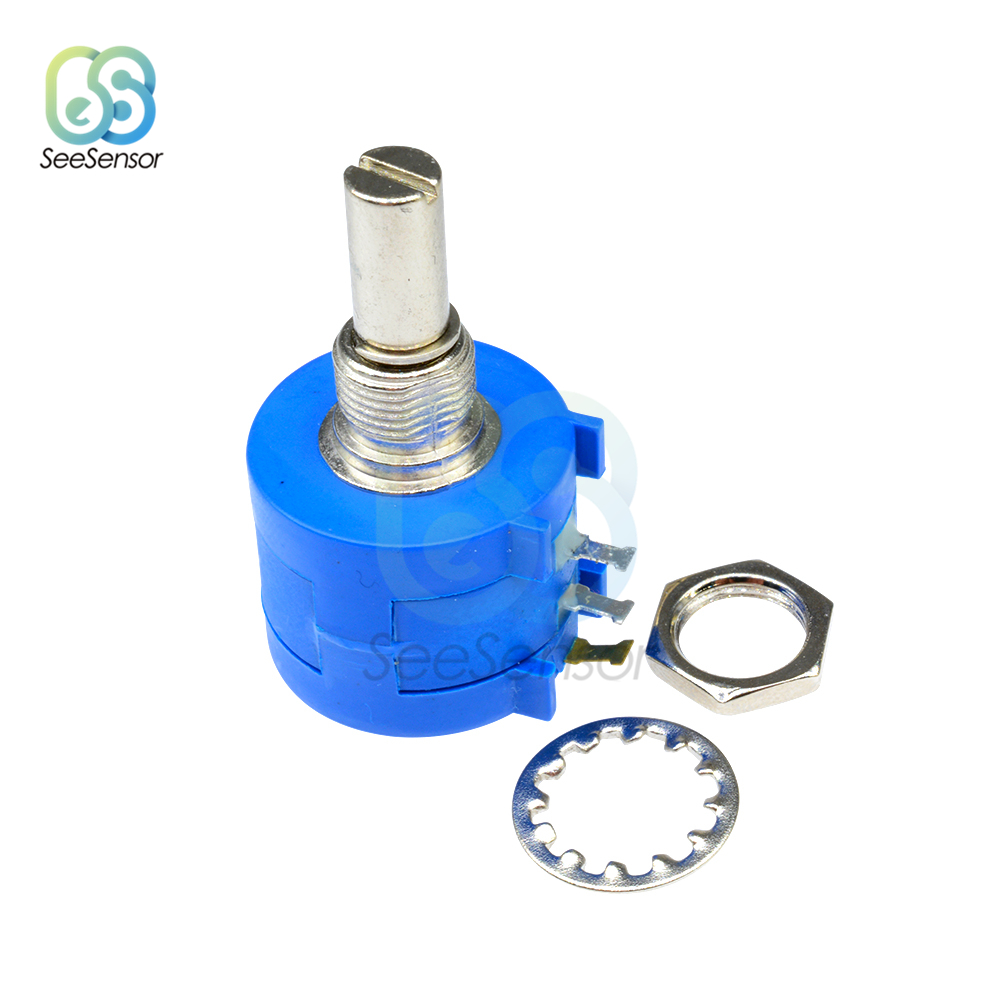 <font><b>3590S</b></font> Series Potentiometer 500 1K 2K 5K <font><b>10K</b></font> 20K 50K 100K ohm Adjustable Resistor <font><b>3590S</b></font>-<font><b>2</b></font>-<font><b>103L</b></font> <font><b>3590S</b></font> 102 103 104 202 203 501 502 image