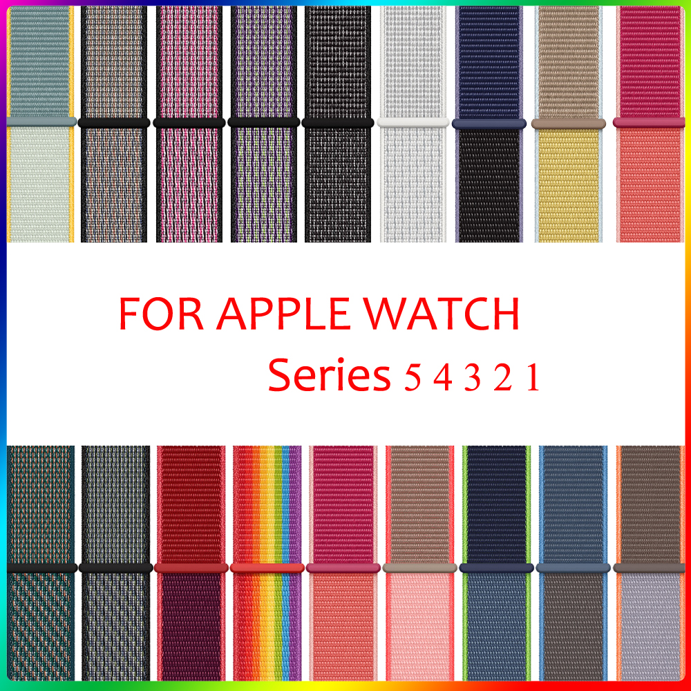 Sport Loop Strap For Apple Watch Band 42mm 38mm 44mm 40mm Woven Nylon Correa Iwatch 4 3 2 Bracelet Apple Watch 4 5 Accessories