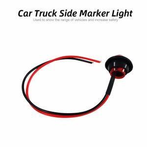 """Image 5 - 2 uds., luz trasera para Moto Mini, ámbar, 3/4 """", lateral redondo, 3 LED, marcador, luz trasera para remolque de coche, lámpara tipo bala, intermitentes, luz lateral para camión"""